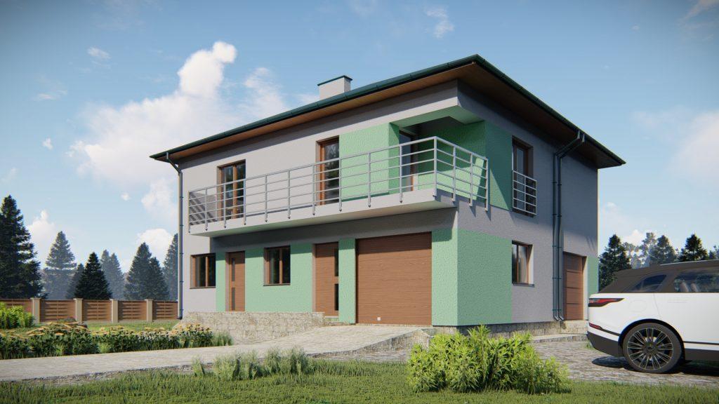 Dwa budynki mieszkalne jednorodzinne w zabudowie bliźniaczej. Rzeszów
