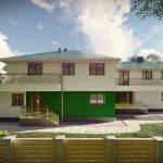 Dwa budynki mieszkalne jednorodzinne w zabudowie bliźniaczej. Rzeszów miasto 1